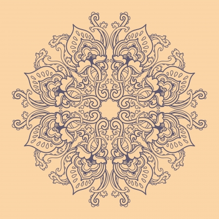 embroidery flower: Ornamental round floral lace pattern. kaleidoscopic floral pattern, mandala.