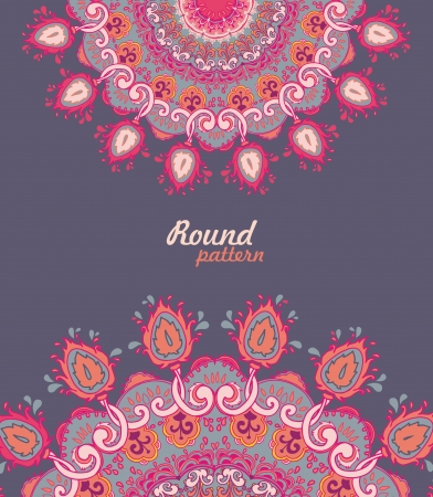 arabesque wallpaper: Ornamental round floral lace pattern. kaleidoscopic floral pattern, mandala.