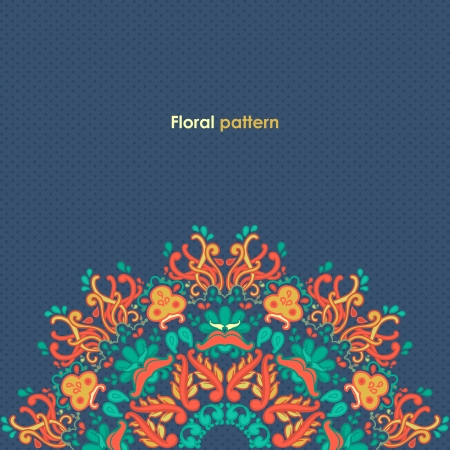 arabisch patroon: Ornamental ronde bloemen kantpatroon caleidoscopisch bloemmotief, mandala