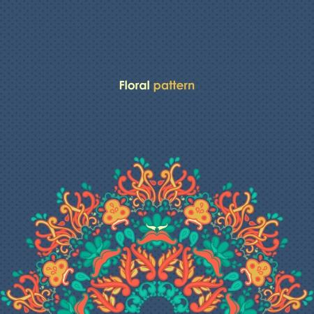 Ornamental round floral lace pattern  kaleidoscopic floral pattern, mandala
