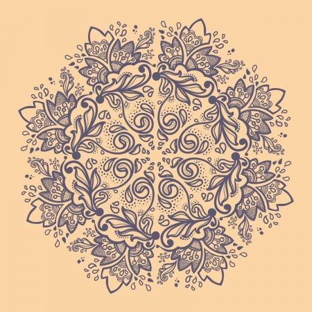 mongoloid: Ornamental round lace pattern floral. caleidosc�pica patr�n floral, mandala.