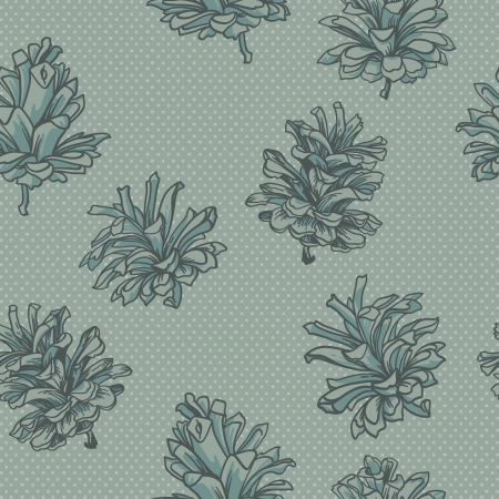 seamless vector background with cones.Vector contour patterns Vector