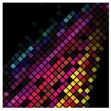 Abstract multicolor lights disco tile background.