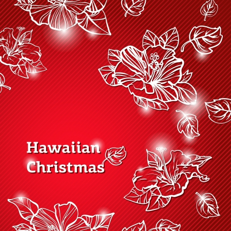 Abstract beauty Christmas and New Year Hawaiian background  illustration Vector