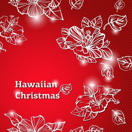 navidad elegante: Resumen belleza de Navidad y A�o Nuevo ilustraci�n de fondo de Hawai Vectores