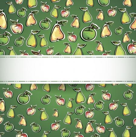 seamless pattern of fruit  Illustration - Fresh stylized Fruit -  Background Stock Vector - 16291518
