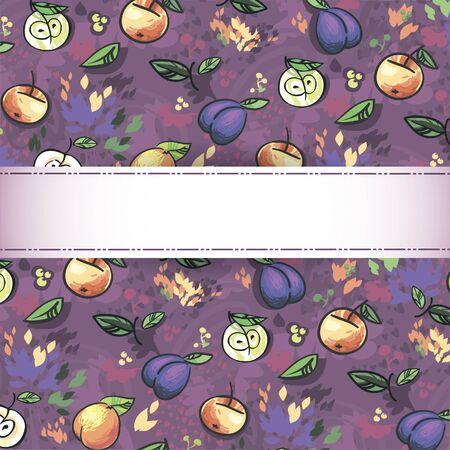 seamless pattern of fruit  Illustration - Fresh stylized Fruit  Background Stock Vector - 16291525