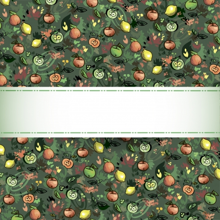 seamless pattern of fruit  Illustration - Fresh stylized Fruit  Background Stock Vector - 16291522