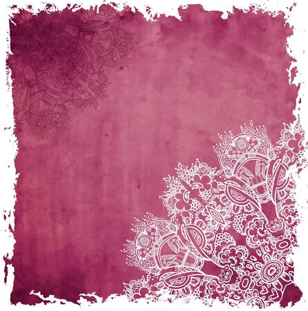 ornamental  floral  background with many details Stock Vector - 16983836