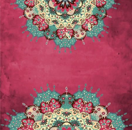 broderie: Colorful d�corative ronde grunge Illustration