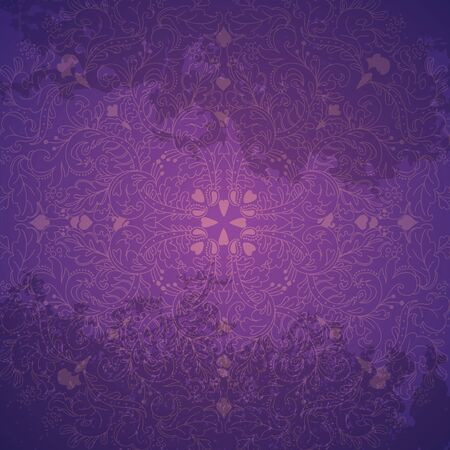 purple background with snowflake, vector illustration Vector