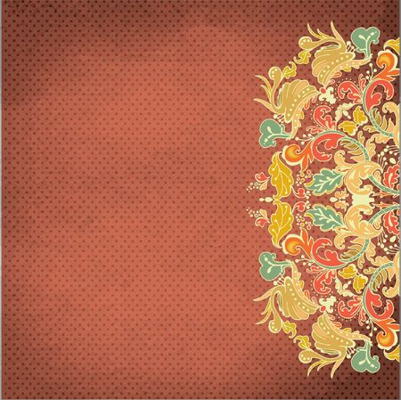 ornamental round lace pattern,background with many details, Vector