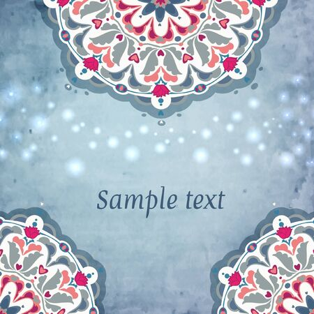 Colorful decorative round  background  Place for text Stock Vector - 16876944