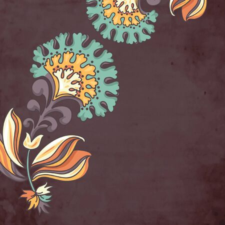 vector floral background with abstract stylized flowers