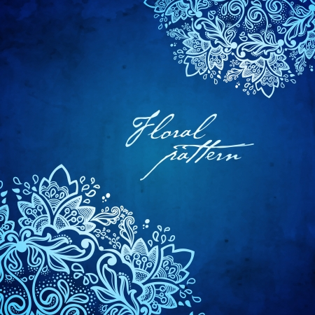 Ornamental round floral lace background  kaleidoscopic floral pattern, mandala