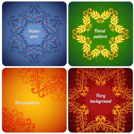 Ornamental floral lace pattern set  floral pattern Vector