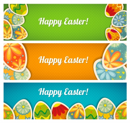 Banner set. Easter cards  with a place for your text Vector