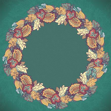 Ornamental round  lace pattern  Ornamental floral lace pattern  kaleidoscopic rainbow floral pattern Stock Vector - 18516351