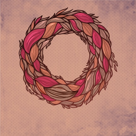 fascia: colorful abstract hand-drawn pattern, wreath waves background