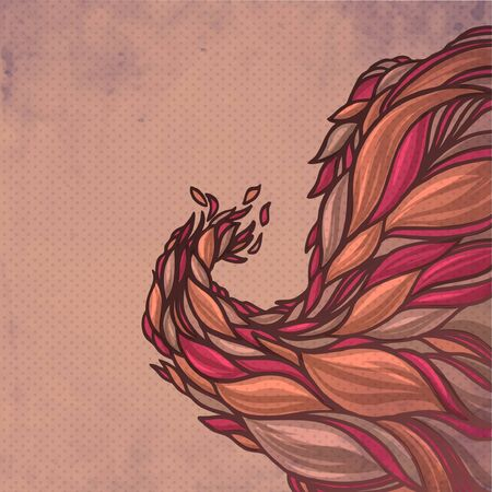 fascia: colorful abstract hand-drawn spring pattern, waves decorative background