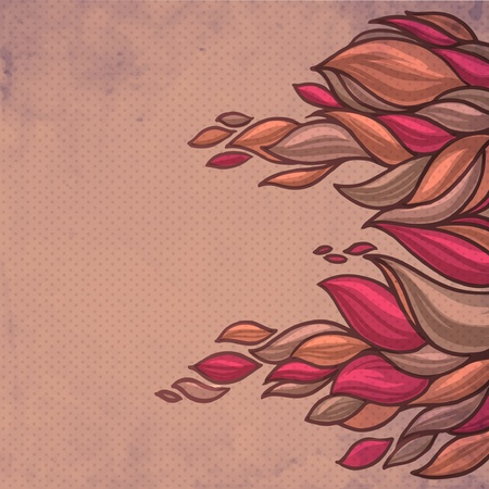 fascia: colorful abstract hand-drawn pattern, waves decorative background Illustration