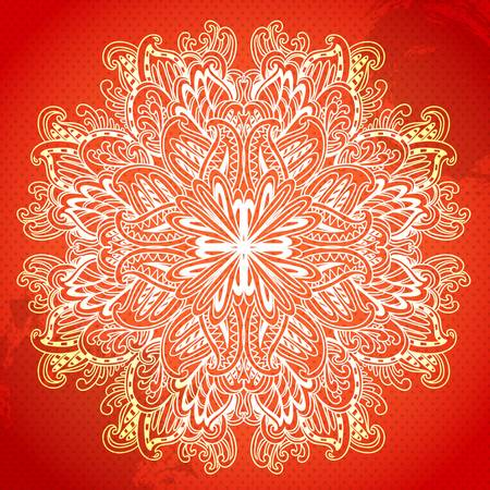 windsor: Ornamental round  lace pattern. Ornamental floral lace pattern. kaleidoscopic rainbow floral pattern