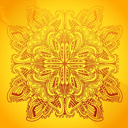 Ornamental round  lace pattern. Ornamental floral lace pattern. kaleidoscopic rainbow floral pattern