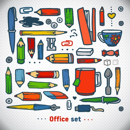 Business office set, vector. school and office illustration Stock Vector - 19649898
