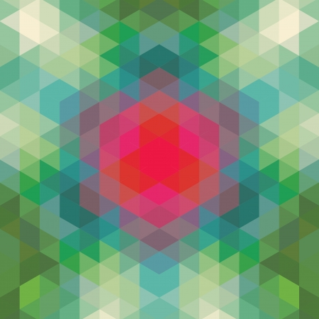 retro geometric pattern  vector optic effect texture Stock Vector - 19892014