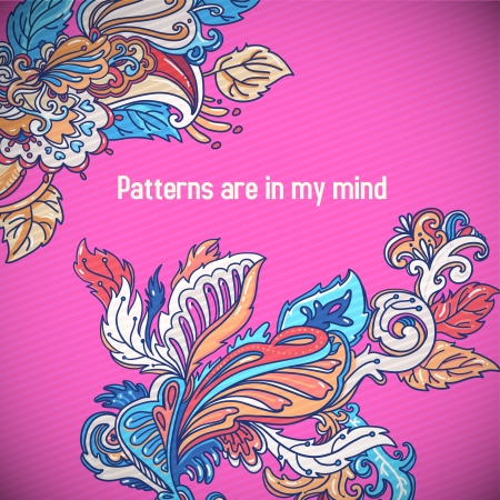 fun lovely pattern for your greeting card