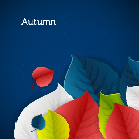 Autumn leaves vector nature vector concept