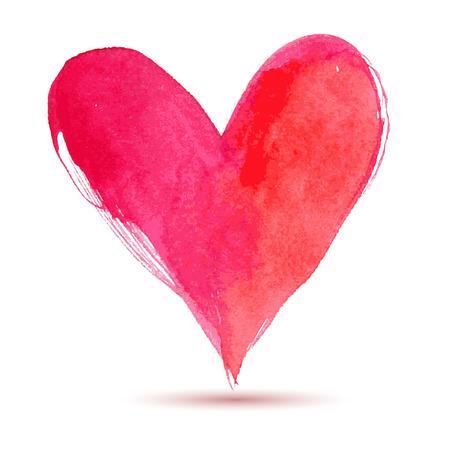 corazon: Feliz Día de San Valentín de la acuarela pintada corazón, elemento del vector para su ejemplo precioso de diseño vectorial para su tarjeta o póster