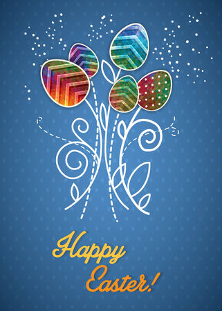 background decorative: Easter eggs vector background  Decorative eggs background