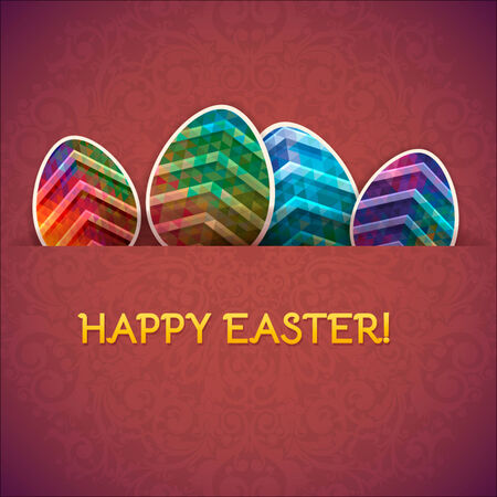 Easter eggs vector background  Decorative eggs background Vector