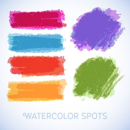 Watercolor splatters. Vector illustration Beautiful watercolor design elements Vector