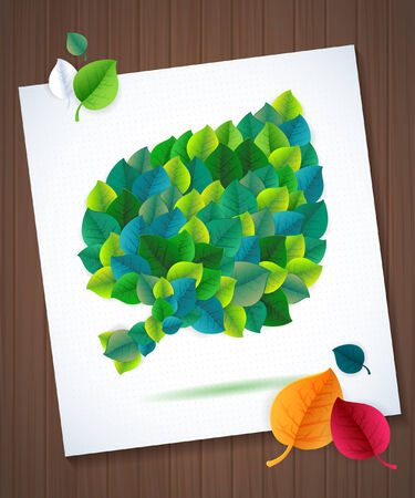 Abstract green leaf vector background  Communication ecology card concept Vector Natural Design  Vector