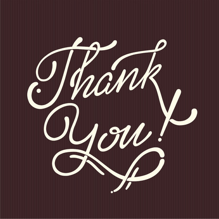 Thank You Hand lettering handmade vector  calligraphy Vector