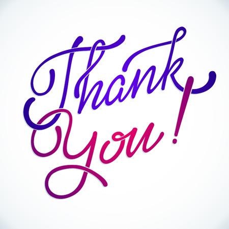 Thank You Hand lettering handmade vector  calligraphy Reklamní fotografie - 38903119
