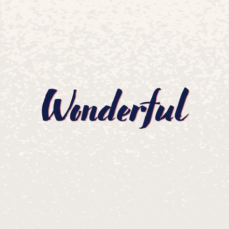 typography signature: Maravilloso vector de la caligraf�a a mano las letras. Simple plantilla de dise�o de texto con estilo en el fondo brillante, ilustraci�n vectorial