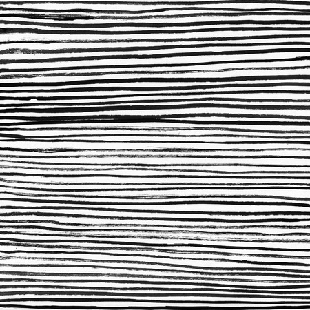 Black ink abstract  stripes background. Hand drawn lines. Ink illustration. Simple striped background.