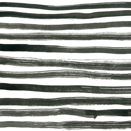 ink illustration: Black ink abstract stripes background. Hand drawn lines. Simple striped  Ink illustration Stock Photo