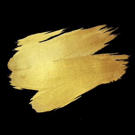 Gold Shining Paint Stain Hand Drawn Illustration Stock fotó - 43555975