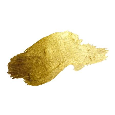 oro: Oro de la pintura brillante mancha de ilustración dibujados a mano Foto de archivo