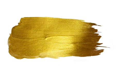 Gold Shining Paint Stain Hand Drawn Illustration Фото со стока - 43577463