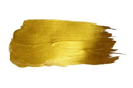 dorado: Oro de la pintura brillante mancha de ilustración dibujados a mano Foto de archivo