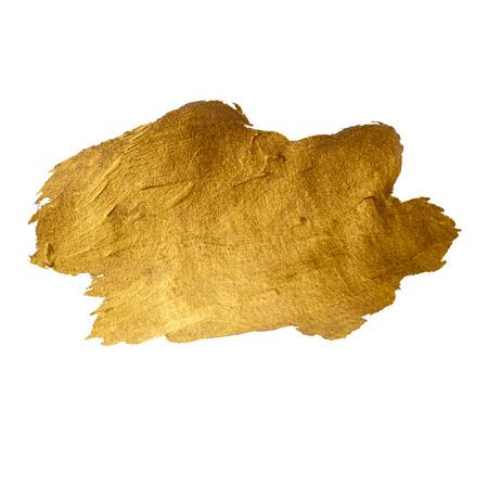 塗料汚れ手描きイラストを輝くゴールド
