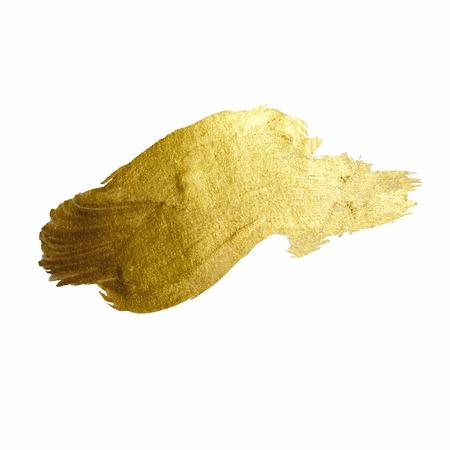 oro: Oro de la pintura brillante mancha de ilustración dibujados a mano Vectores