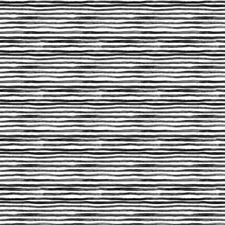 Black ink abstract horizontal stripes background. Hand drawn lines. Ink illustration. Simple striped background