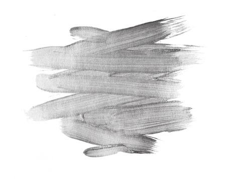 Plata metálico textura de la pintura de acuarela mancha abstracta ilustración. Luminoso pincelada para usted increíble proyecto de diseño Foto de archivo