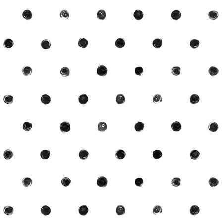 Black and white  Polka Dot Seamless Pattern Paint Stain Abstract Illustration. Reklamní fotografie - 45935302